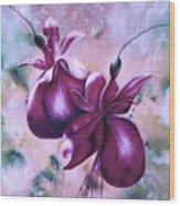 Fat Fuchsia Wood Print