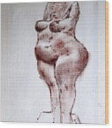Fat Nude Woman  Wood Print
