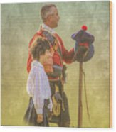 Father And Son Soldiers Wood Print