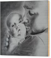 Father N Son Wood Print
