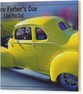 Father's Day W Frame Wood Print
