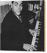 Fats Waller, American Composer Wood Print
