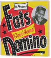 Fats Domino Wood Print