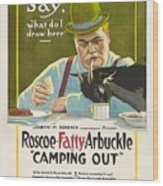 Fatty Arbuckle In Camping Out 1919 Wood Print