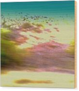 Faux Watercolor Wood Print