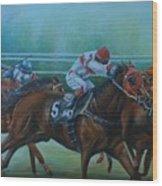 Favorite, Horse Race Art Wood Print