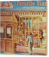 Favorite Viande Market Wood Print