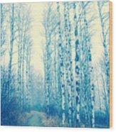 Faze Blue Wood Print