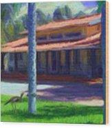 Farm Main House 1 Wood Print
