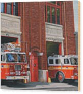Fdny Engine 88 And Ladder 38 Wood Print