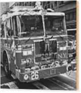 fdny engine New York City USA Wood Print