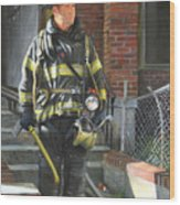 Fdny Squad 41 Firefighter Wood Print