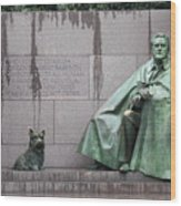 Fdr Memorial - Neither New Nor Order Wood Print