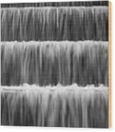 Fdr Memorial Waterfall Wood Print