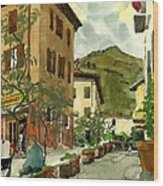Fdr Piazza Regello Wood Print