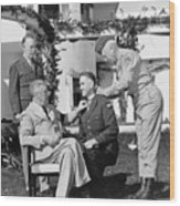 Fdr Presenting Medal Of Honor To William Wilbur Wood Print