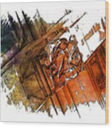 Fear Earthy Rainbow 3 Dimensional Wood Print