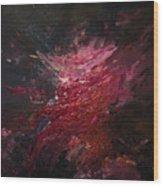 Fear Series, Iv Wood Print by Daniel Hannih