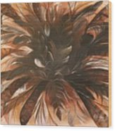 Feather Bloom Wood Print