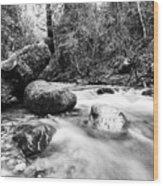 Feather Falls Stream Wood Print