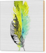 Feather Fusion Wood Print