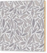 Feather Pattern Wood Print