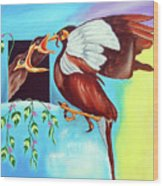 Feather Touch Wood Print