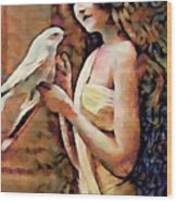 Feathered Confidant Wood Print