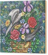 Feathered Frolic Wood Print