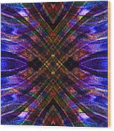 Feathered Stained Glass Wood Print