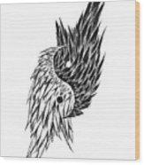 Feathered Ying Yang  Wood Print