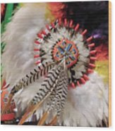 Feathers And Beads Wood Print