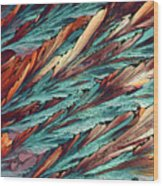 Feathers Of Crystal 2 Wood Print