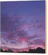 February Clouds Wood Print