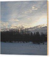 February Dawn Clouds Wood Print