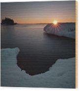 February Sunrise In Sturgeon Bay Wood Print
