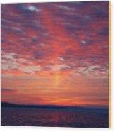 February Sunrise Wood Print