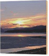 February Sunset Wood Print