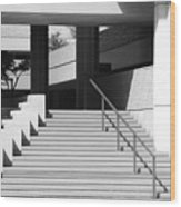 Federal Stairs Wood Print