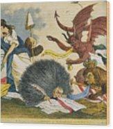 Federalist Cartoon, C1799 Wood Print
