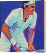 Federer Wood Print