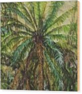 Federico Palm Wood Print