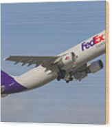 Fedex Airplane Wood Print