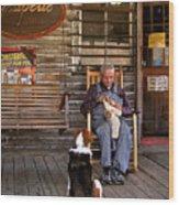 Feed The Dog Wood Print
