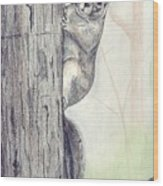 Feeder Raider Wood Print