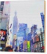 Feeling New York Wood Print