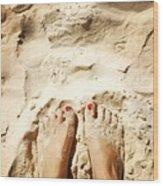 Feet Around The World #4 Wood Print