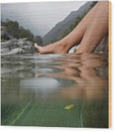 Feet On The Water Wood Print by Mats Silvan