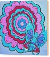 Felicity's Flower Wood Print