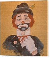Felix The Clown Wood Print